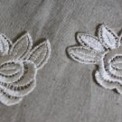 Lovely Venise Flowers Appliques Patches collars 2 pc Fast Shipping
