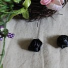 Gorgeous Black Flowers Buds Appliques Patches 2 pcs Twirls Fast Shipping