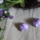 Gorgeous Violet Flowers Buds Appliques Patches 2 pcs Twirls Fast Shipping