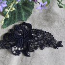 Lovely black Embroidered Flowers Appliques Patches 1 pc Fast Shipping