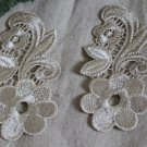 Elegant Embroidered Floral Appliques Patches 2 pcs Fast Shipping
