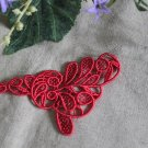 ON SALE Red Venise Appliques Patches Retro 1 pc Fast Shipping