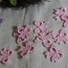 Fabulous Light Pink Appliques Patches Bows 10 pcs Fast Shipping