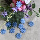 Fabulous Blue Flowers Appliques Patches 10 pcs Fast Shipping
