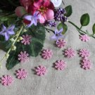 Fabulous Pink Flowers Appliques Patches 12 pcs Fast Shipping