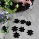 Fabulous Black Flowers Appliques Patches 10 pcs Fast Shipping
