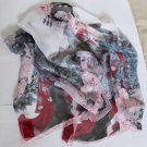 Beautiful Silk Like Chiffon Oblong Scarf -- beauty Gorgeous