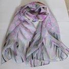 Beautiful Silk Like Chiffon Oblong Scarf - Gorgeous Fast Shipping