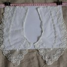 Beautiful Embroidered Floral lace Collar Appliques Patch 1 pair Fast Shipping