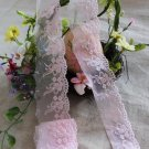 Fabulous Lace Trim Embroidered Floral on Mesh Tulle 1.26 yd Fast Shipping