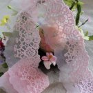 Fabulous Lace Trim Embroidered Floral on Mesh Tulle 1.3 yd Fast Shipping