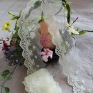 Fabulous Lace Trim Embroidered Floral on Mesh Tulle 1.86 yd Fast Shipping
