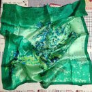 "Gift 20"" 100% Silk Neck Head Scarf Kerchief Art Vincent van Gogh Irises-exactly scarf in picture"