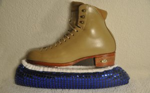 Blue Sequin Hockey Ice Skate Soakers