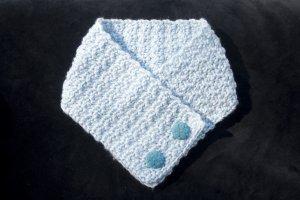 Blue Crochet Neck Warmer