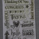 Best Wishes Clear Acrylic Stamp Set by Paper Studio