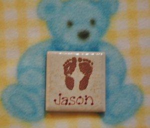 Embossed Baby Magnet - Personalized - Jason