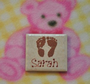 Little Feet Baby Magnets Personalized and Embossed
