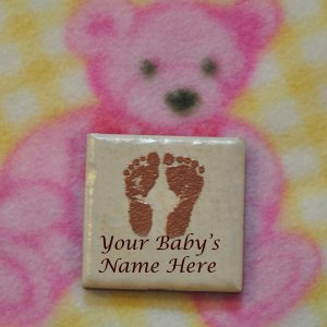 Personalized Baby Magnets - Blank