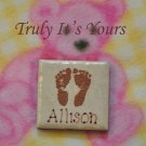 Embossed and Personalized Baby Magnet - Allison