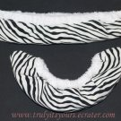 Black and White Animal Print Ice Skate Soakers Blade Covers