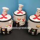 3D Fat Italian Chef canister set Canisters Jar BISTRO Bar decor kitchen home New
