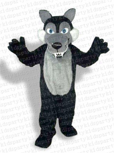 new wolf mascot costume Halloween costume fancy dress free shipping