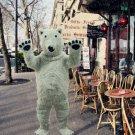 New polar bear mascot costume Halloween costume fancy dress free shipping