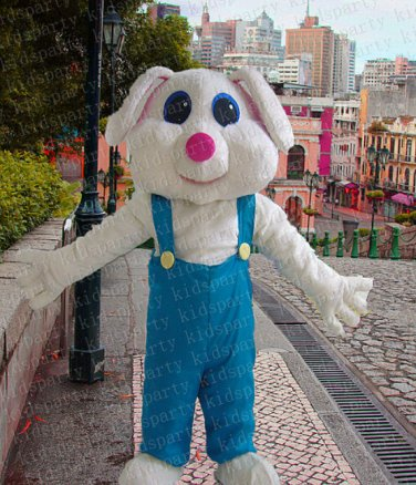 New high quality rabbit bugs mascot costume adult size Halloween costume fancy dress free shipping