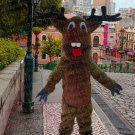 high quality elk deer mascot costume adult size Halloween costume fancy dress free shipping