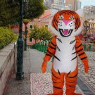 New high quality tiger mascot costume adult size Halloween costume fancy dress free shipping
