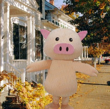 high quality EN pig mascot costume adult size Halloween costume fancy dress free shipping