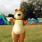 high quality masha bear mascot costume adult size Halloween costume fancy dress free shipping