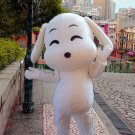 high quality white dog mascot costume adult size Halloween costume fancy dress free shipping