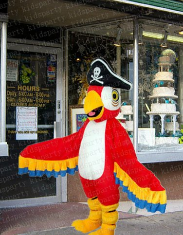 high quality pirate parrot mascot costume adult size Halloween costume fancy dress free shipping