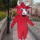 high quality red bull mascot costume adult size Halloween costume fancy dress free shipping