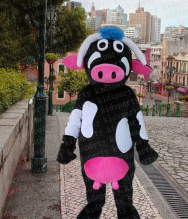 high cow mascot costume adult size Halloween costume fancy dress free shipping