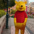 New bear mascot costume winnie adult size Halloween costume fancy dress free shipping