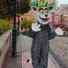 high quality fur king Julian mascot costume adult size Halloween costume fancy dress free shipping