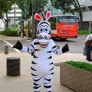 high quality zebra mascot costume adult size Halloween costume fancy dress free shipping