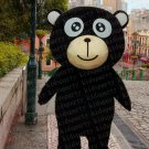 high quality black bear mascot costume adult size Halloween costume fancy dress free shipping