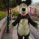 high quality long plush bear mascot costume adult size Halloween costume fancy dress free shipping
