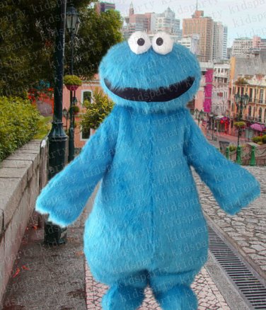 New cookie monster mascot costume alex adult size Halloween costume fancy dress free shipping