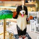 Realistic Bernese Mountain Dog Mascot Costume Adult Size Anime Costumes Carnival Fancy Dress Kits