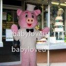 pink pig chef mascot costume fancy party dress suit carnival costume fursuit mascot