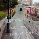 New polar bear mascot costume fancy party dress suit carnival costume fursuit mascot