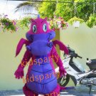 New purple dragon mascot costume fancy party dress suit carnival costume fursuit mascot