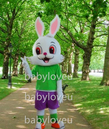 New rabbit mascot costume fancy party dress suit carnival costume fursuit mascot