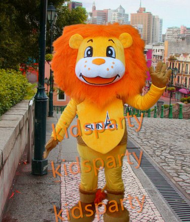 New lion mascot costume fancy party dress suit carnival costume fursuit mascot