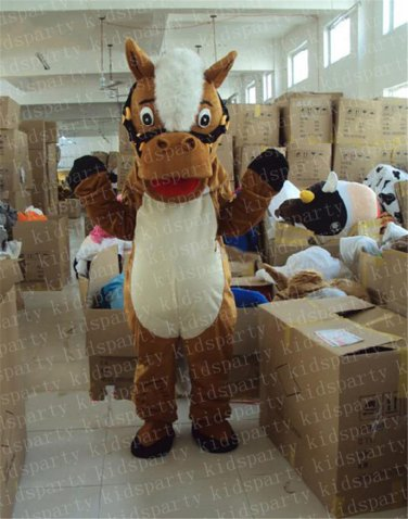 hot sale horse mascot costume new cartoon boy costumes baseball mascot costumes